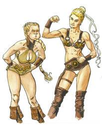 Thara and Kymah by Ignifero
