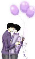 Doumeki steals a kiss by Marmochi