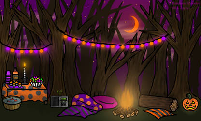 Halloween Party Room For Chatlands by RainbowWyvern