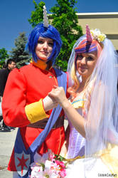 Shining Armor and Princess Cadence by kawaiilove