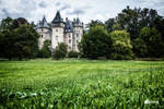 Green scenery and Castle by GregKmk