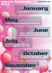Islamic Festivals and Celebrations 2014 by topmuslim