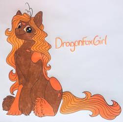 DragonFoxGirl Ponysona by BellBell123
