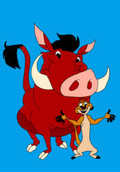 Timon And Pumbaa by Wolf2567