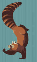 5000 and on - red panda by Marji4x