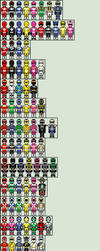 Every Single Power Ranger by TheLordOfGames