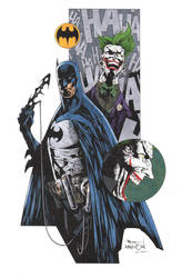 Batman Joker Davidson by krakenart