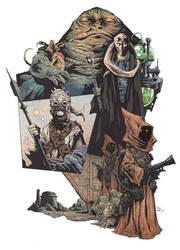 Star Wars Tatooine by krakenart