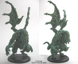 Cthulhu Miniature by shaungent