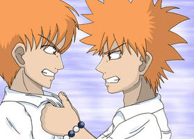 Ichigo and Kyo fight by Misaki-chi