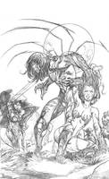 Witchblade-Darkness cover by surfercalavera