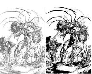 Darkness Sergio Anaya's Inks by surfercalavera