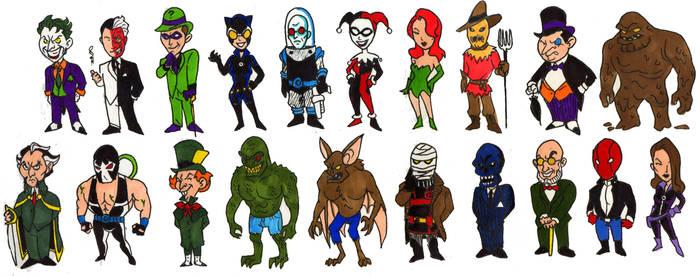 Batman Villains of Gotham by Mbecks14