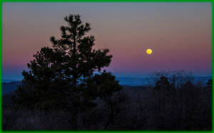 Sunset with Full Moon over San Juan Natl. Forest by ByLagarto