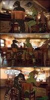 2 Lizards in a Bar by ByLagarto