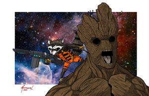 Rocket and Groot by Pogues