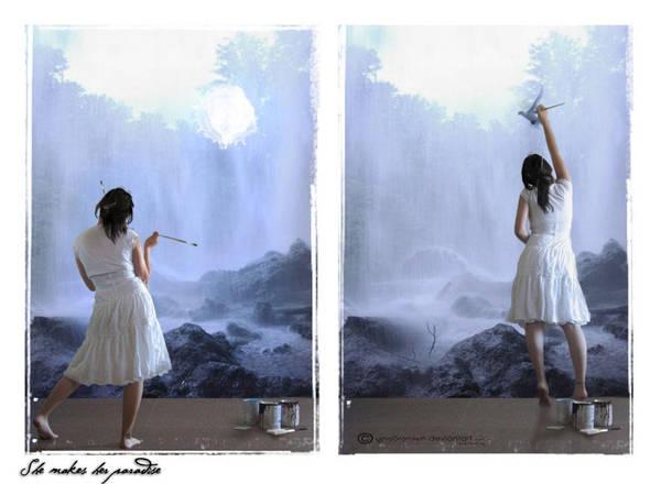 She makes her paradise by elvyDramileth
