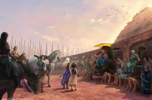 Daenerys sets the slaves free by 1oshuart