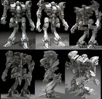 hunter battle robot by ksn-art