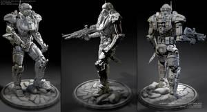 Polar Wolf  3d concept by ksn-art