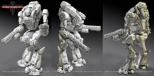 piroman german droid by ksn-art