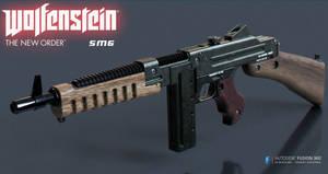 Wolfenstein: The New Order SMG 3d model by ksn-art