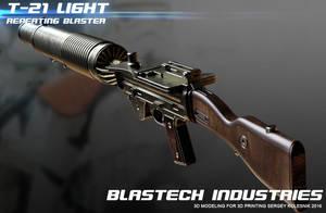 T-21 light repeating blaster by ksn-art