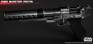 A180 blaster pistol Jyn Erso by ksn-art
