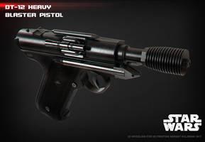 DT-12 heavy blaster pistol 3D print model by ksn-art
