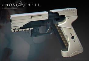 Ghost in the shell -Major termoptic pistol by ksn-art