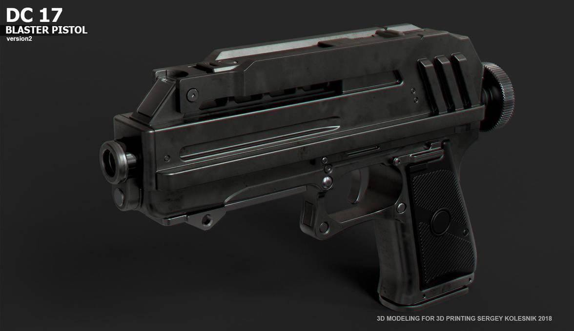 DC17 v2 Blaster Pistol by ksn-art