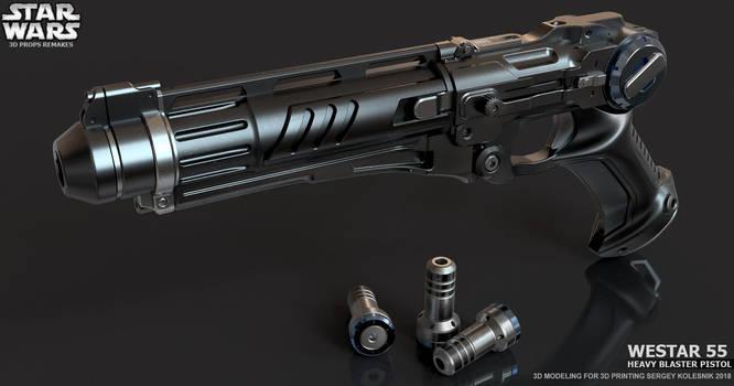 Westar 55 Heavy blaster pistol by ksn-art