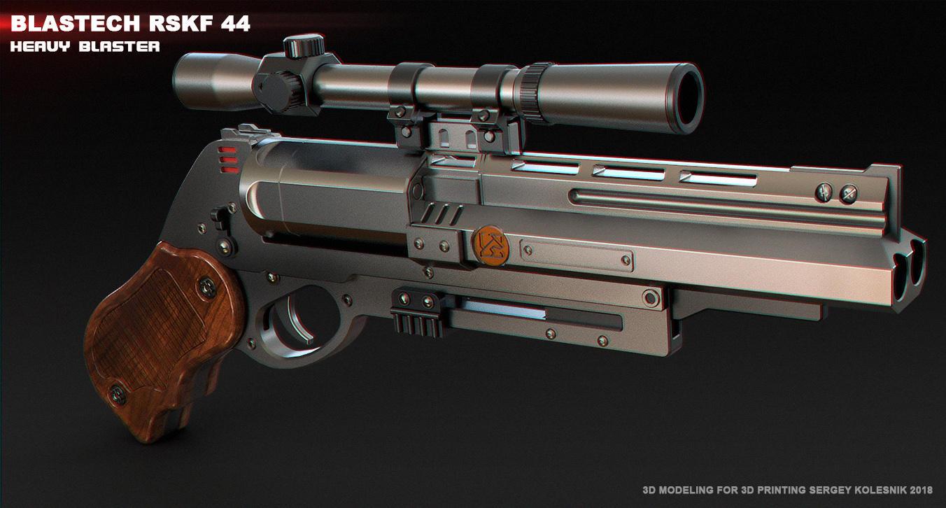Blastech RSKF44 Heavy blaster by ksn-art