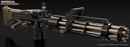 IMPERIAL HEAVY ROTARY BLASTER by ksn-art