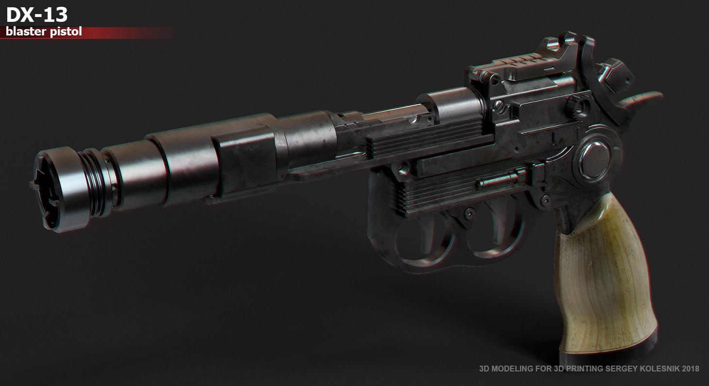 DX-13 blaster pistol by ksn-art