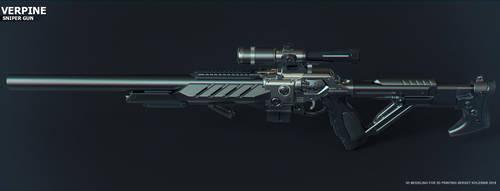 Verpine sniper gun by ksn-art
