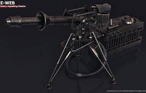 E-Web heavy repeating blaster by ksn-art