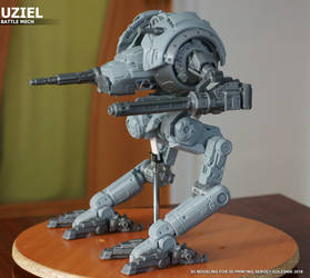 Uziel mech by ksn-art