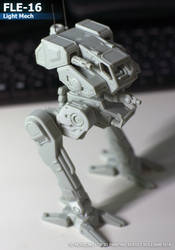 Fle-16 Flea mech by ksn-art