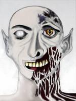 Zombie Head by BeastArt567
