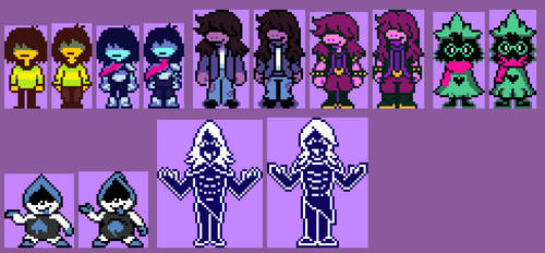 My Take on a Few of the Deltarune Sprites OUTDATED by AquaPixelized