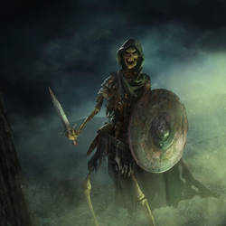 skeleton warrior by 0oki