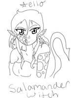 SE: Aello -Salamander Witch- by xXimmaeatjooXx