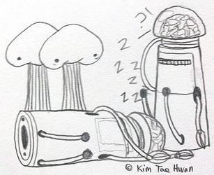 Metal Slug : Sleeping Ring Laser Mecha by komi114