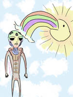 Feron and the Rainbow. by Fizzybopper