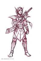 Male Elf Warrior by mansarali