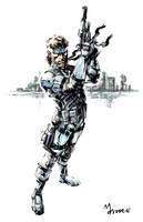 MGS2_Solid Snake by mansarali
