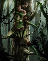Elf Archer Beauty Shot by mansarali