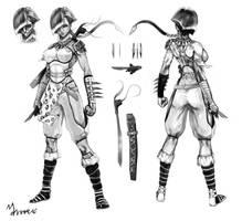 Tribal Ninja Turnaround by mansarali