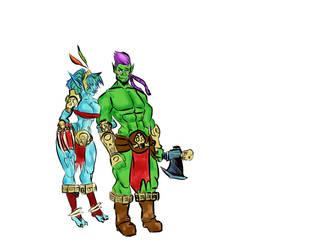 Maljack and Tirani by GamingHunter